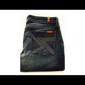 7 For All Mankind Flynt  TALL Jeans Sz 28